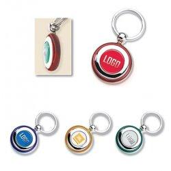 ميدالية مفتاح معدنية دائرية ملونة ومطبوعة